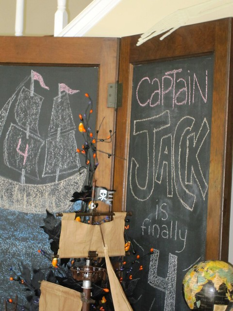Pirate Birthday Party Decorations Chalkboard