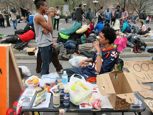 Occupy Wall Street: M21, Occupy Union Square, Snacks and beverages
