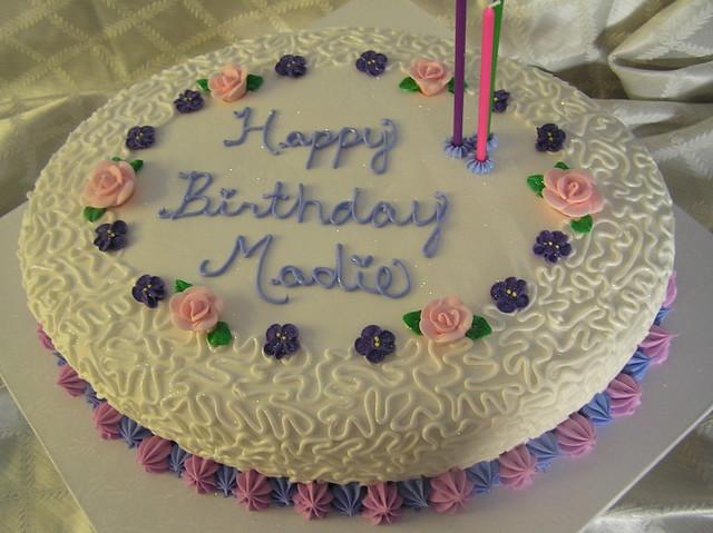 Aunt Madie s 96th Birthday Cake Flickr - Photo Sharing!