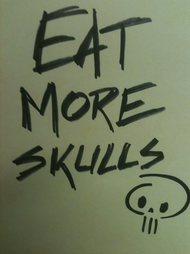 Eat More Skulls by Doodle-Zook