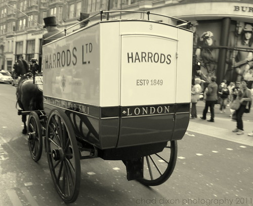Harrods Delivery b&w