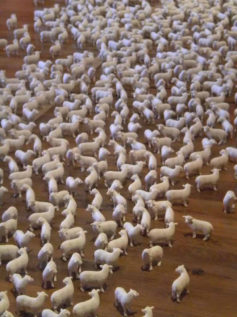 Figuritas de ovejas en el MODEM