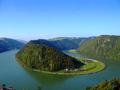 Вид на Дунай в городке Schlögen