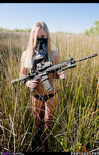 girl model woods ar rifle dirty bikini bullets ar15 barbi codi assaultrifle girlsguns backwoodsbarbie theurbansniper joeynewcombe