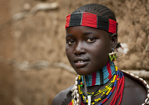 Hamer tribe girl in Turmi - Ethiopia