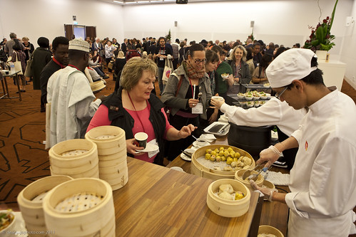 Lunch on the final day of the World Summit was a global affair