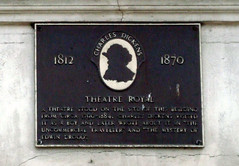 Photo of Theatre Royal, Rochester and Charles Dickens black plaque