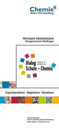 """Erstmals Auszeichnung """"Dialog Schule – Chemie"""" vergeben- Hermann Heinzelmann geehrt"""