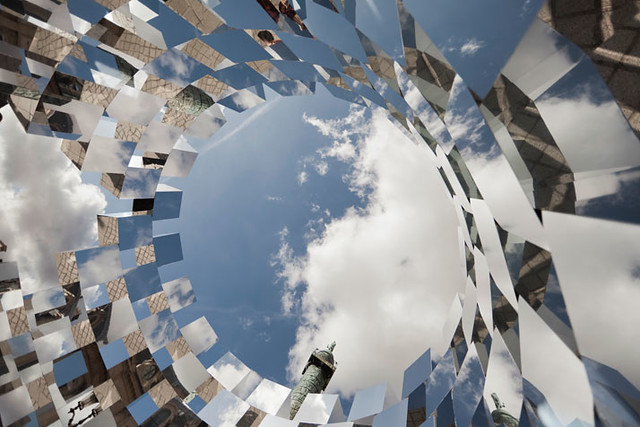 Ring Mirror Installation by Arnaud Lapierre, luxorium