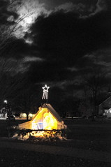 Xmas in Bayfield - Nativity and Moon