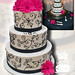 Buttercream, black and white wedding 11-11-11