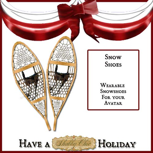 Shabby Chic Wearable Snowshoes by Shabby Chics