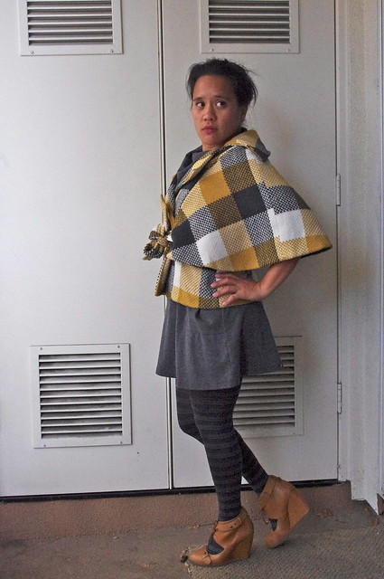 OOTD: Cape Plaid