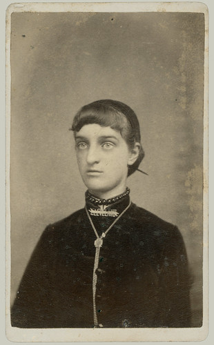 CDV woman with high collar