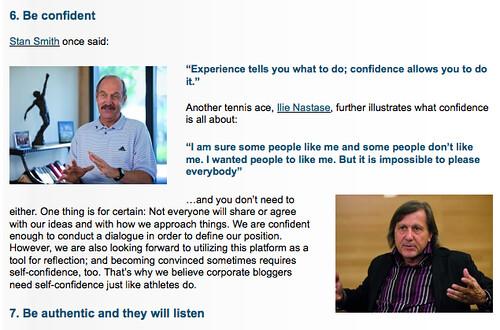 Ilie Nastase on the adidas corporate blog