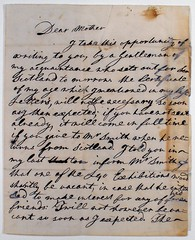 Letter from Adam Smith to his mother. (1742?). MS Gen 1035/128
