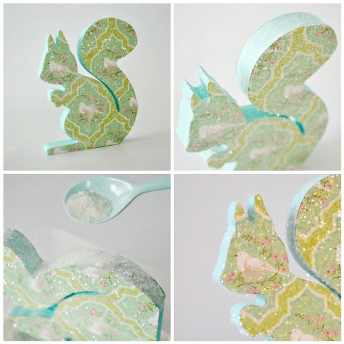 Sparkly print Squirrel - steps 9- 12
