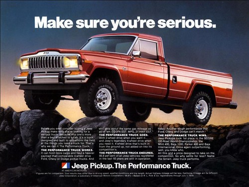 Jeep Truck Advertisement by lee.ekstrom