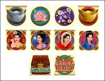 free Asian Beauty slot game symbols