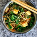 Soba Noodles with Kale, Tofu, and Furikake