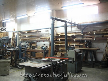 Faith Academy carpentry room