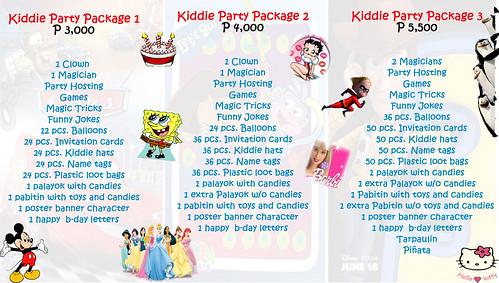 kiddie party package