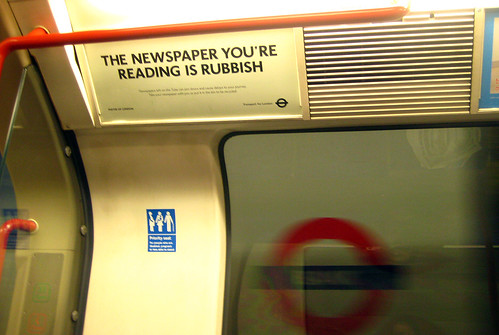 Tube Ad - Newspaper You're Reading is Rubbish by Annie Mole