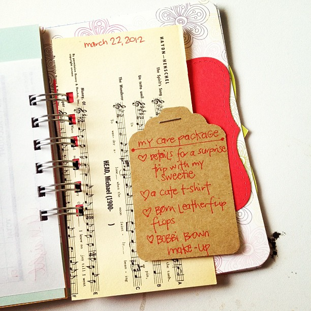 #30daysoflists | my care package, #journal, #minialbum