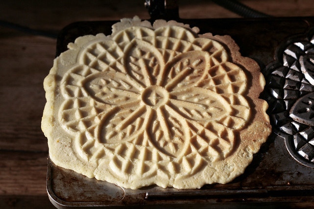 pizzelle, finished