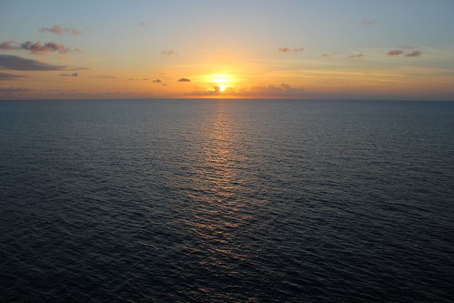 Sunset from the Disney Fantasy