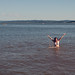 Lauren swimming at Fern Ridge Lake by mustardandsage