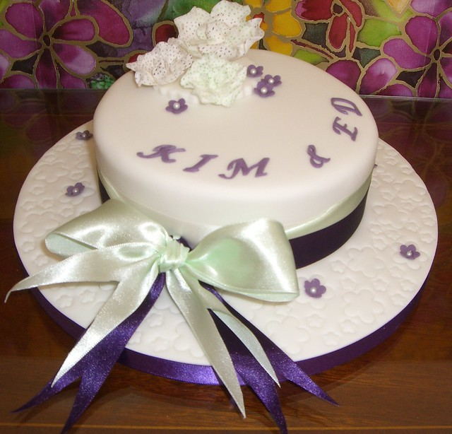 First Marriage Anniversary Cake Images : 1st Wedding Anniversary Cake Flickr - Photo Sharing!
