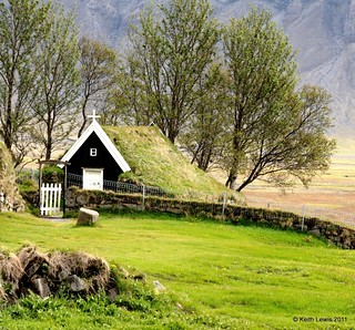 Icelandic Roofs # 2....Nupsstaour  Turf Church