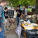 Tabling along Tech Walkway