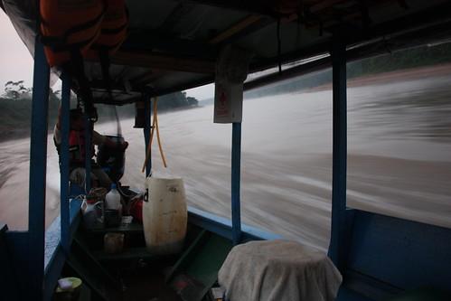 Racing along the Tambopata
