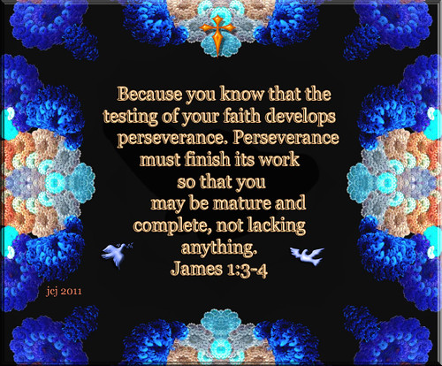 THE TEST OF FAITH DEVELOPES PERSEVERANCE