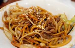 beef chow fun(0.0), carbonara(0.0), noodle(1.0), mie goreng(1.0), bakmi(1.0), shahe fen(1.0), fried noodles(1.0), lo mein(1.0), bucatini(1.0), spaghetti(1.0), spaghetti aglio e olio(1.0), hokkien mee(1.0), char kway teow(1.0), naporitan(1.0), pici(1.0), food(1.0), dish(1.0), yakisoba(1.0), chinese noodles(1.0), yaki udon(1.0), cuisine(1.0), chow mein(1.0),