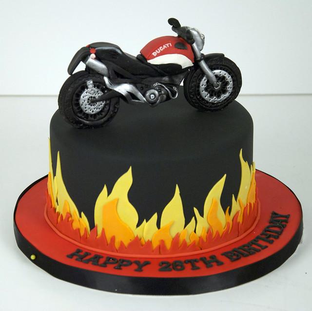 Flame Ducati Motorcycle Cake Toronto Flickr Photo Sharing
