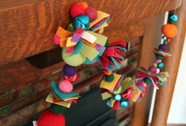 Scrappy Christmas Garland