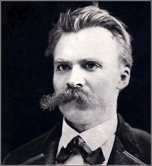 Intense portrait of Nietzsche, details unknown