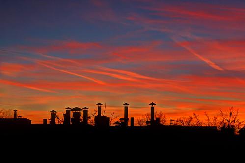 sunset mi michigan detroit silhouettes chimneys pointed 313 odc mikekline michaelkline notkalvin notkalvinphotography