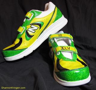 green bay packer shoes by Shannon Kringen