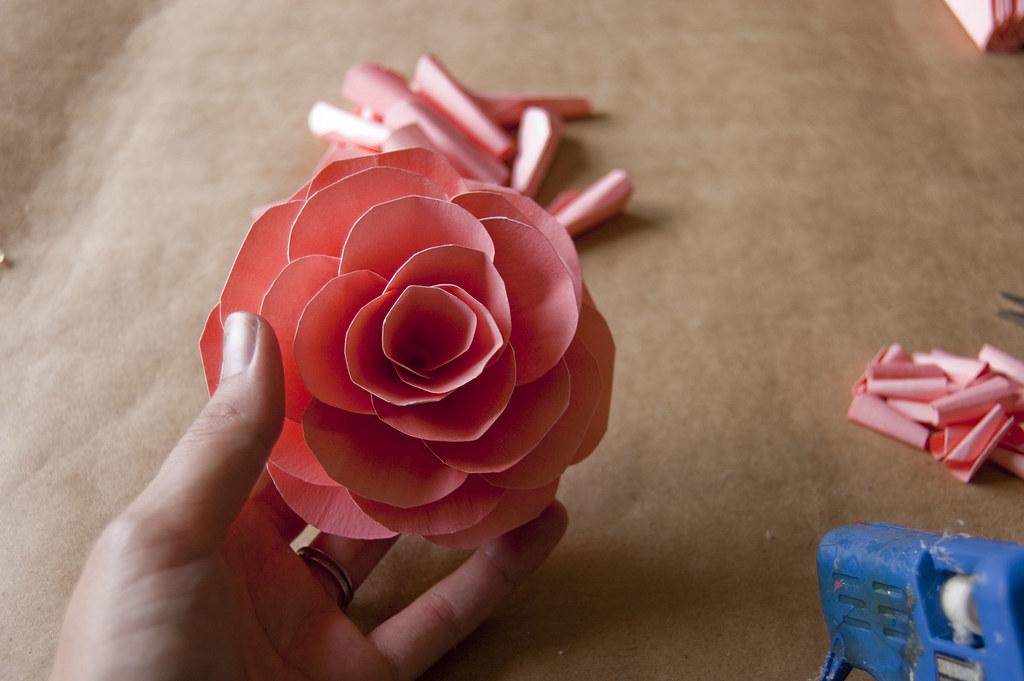 Flat paper flowers finished flower mightylinksfo