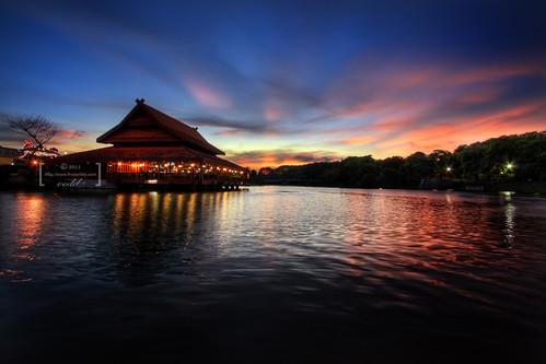 sunset lake canon eos evening malaysia kualalumpur hdr selangor shahalam 9xp 400d vedd