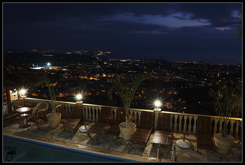 sea holiday night island coast mediterranean cyprus bluehour canonef1740mmf4lusm coralbay paphos peyia eos40d peyeia