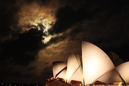 I see a bad moon rising - over Sydney Opera House
