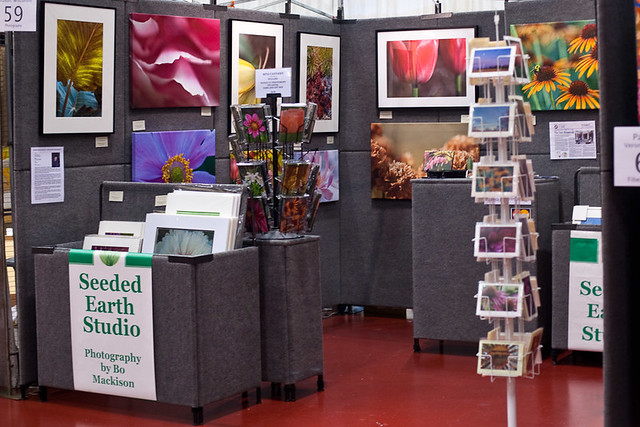 Seeded Earth Studio Booth at Winter Art Festival