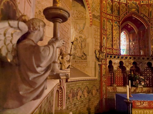Inside St Peter's church, Hascombe