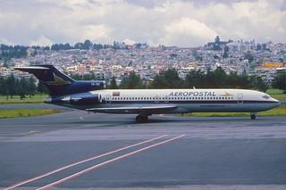 169ad - Aeropostal Boeing 727-231; YV-18C@UIO;06.03.2002