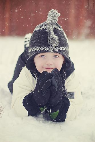 無料写真素材, 人物, 子供  男の子, 帽子, 雪, アメリカ人